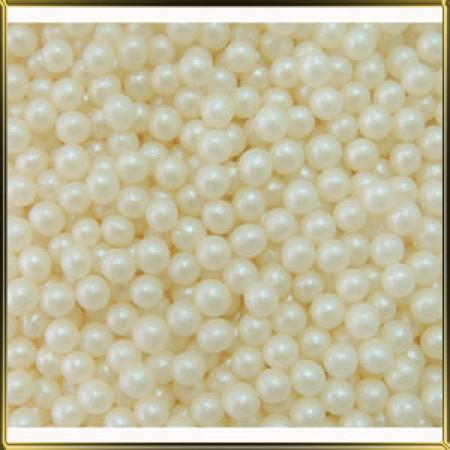 Посыпка шарики белые перламутровые 4 мм 50 грамм