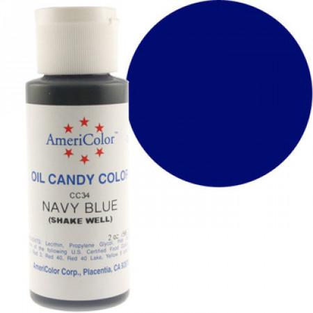 Краска для шоколада NAVY BLUE Americolor 56 гр