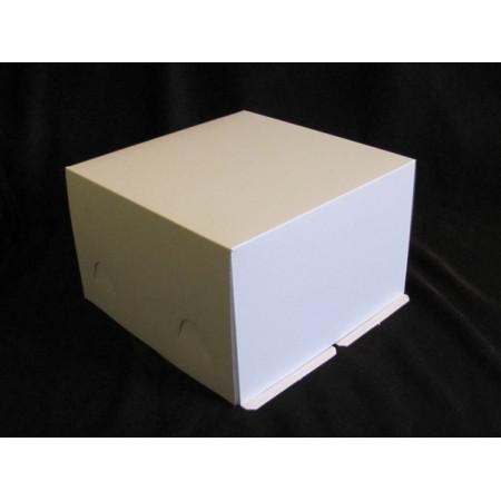 Коробка для торта 30*30*19 см белая