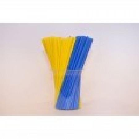 Палочки для кейк-попсов 15 см 50шт желто-синие
