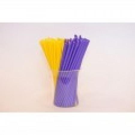 Палочки для кейк-попсов 15 см 50шт желто-фиолетовые