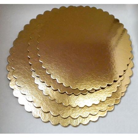 Подложка картонная золото 2.5мм д.280мм ромашка