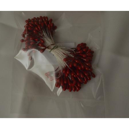 Тычинки для цветов клюква перламутровые, 284 шт