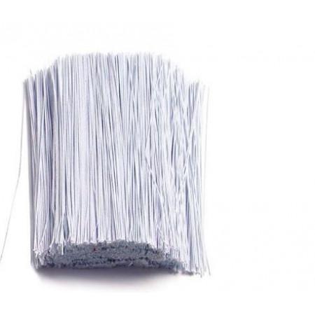 Проволока для цветов №20 в бумажной обмотке белая, 30 см, 100 шт