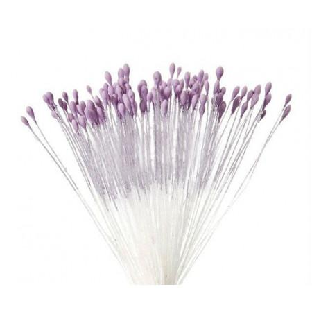 Тычинки для цветов матовые лавандовые мелкие 280 шт