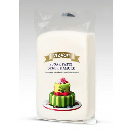 Сахарная мастика Vizyon белая 1кг