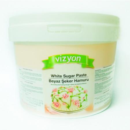 Сахарная мастика Vizyon белая 6кг