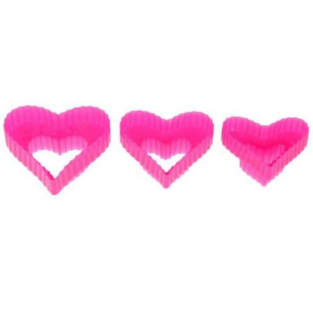 """Набор форм для печенья 3 шт """"Сердце"""""""