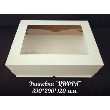"""Коробка для торта 29*39*12 см """"Цифра"""""""