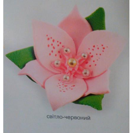 """Сахарный декор """"Лилии"""" розовый 3 шт"""