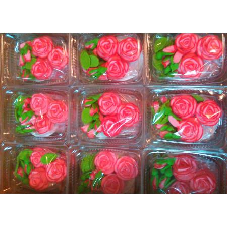"""Сахарный декор """"Чайные розы"""" светло-розовые 3 шт"""