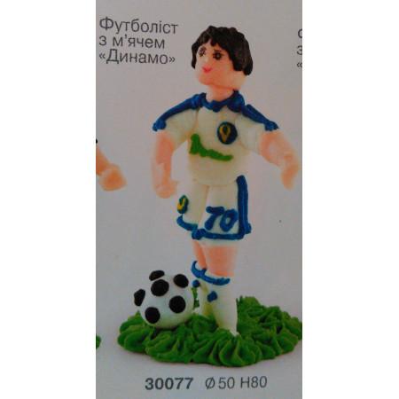 """Сахарный декор """"Футболист с мячом"""""""