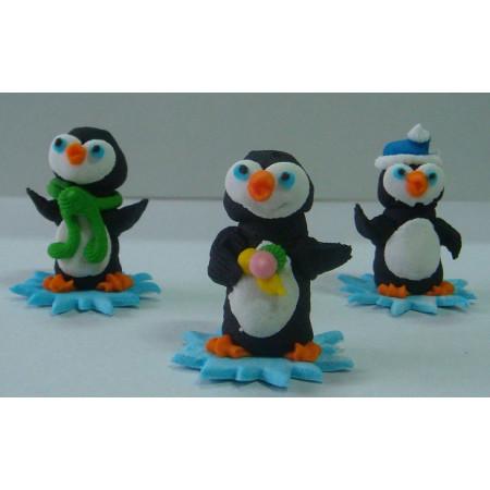 """Сахарный декор """"Пингвины"""" 3 шт"""