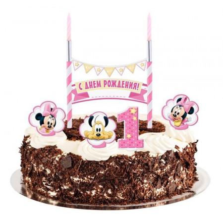 Набор праздничный для торта Минни Маус