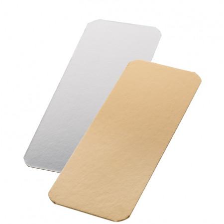Подложка для рулета прямоугольная золото/ белая 29,5*10,8 см толщ. 1,5 мм