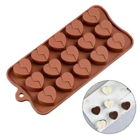 Форма для льда и шоколада «Сердце», 21×10 см, 15 ячеек