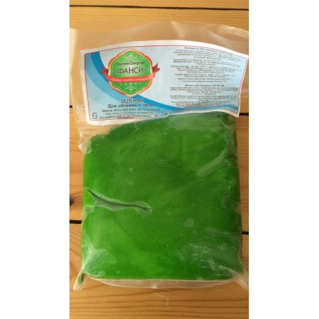 """Сахарная мастика """"Фанси"""" зеленая 0,5 кг"""