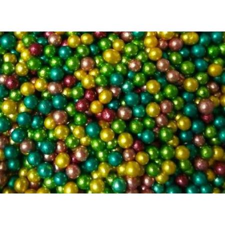 Посыпка шарики разноцветные 4мм. 50 грамм