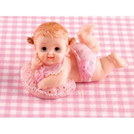 Новорожденный ребенок 11х6х7см , пластик девочка