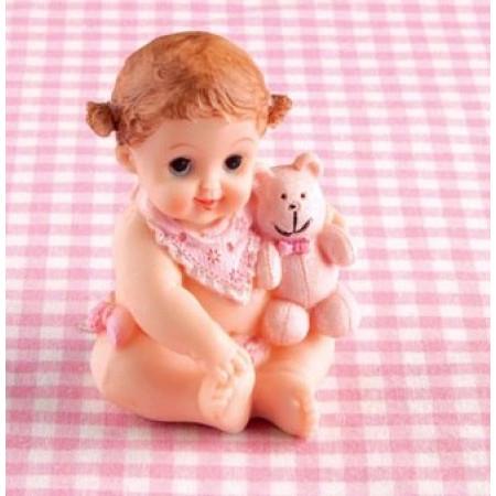 Новорожденный ребенок 7х7х9см, пластик девочка