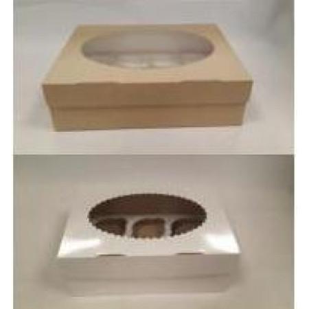 Коробка на 12 капкейков двухсторонняя с окошком