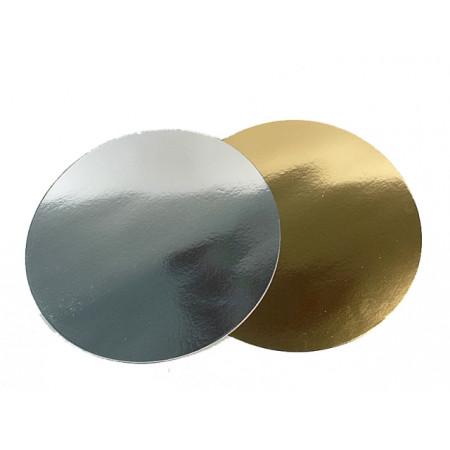 Подложка д. 280 мм толщина 1,5 мм золото/жемчуг