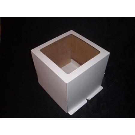 Коробка для торта 23*23*22 см окном ЭКОНОМ