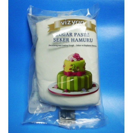 Сахарная мастика Vizyon белая 0.5 кг